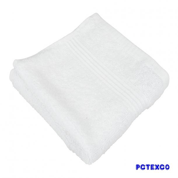Khăn mặt cotton dài trắng
