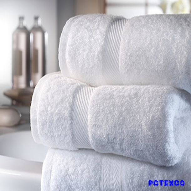 Khăn tắm cotton trắng 80x160
