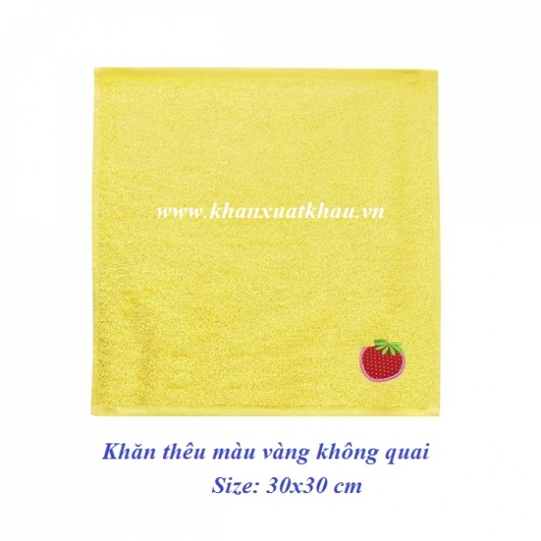 Khăn mầm non thêu kí hiệu màu vàng (không quai)